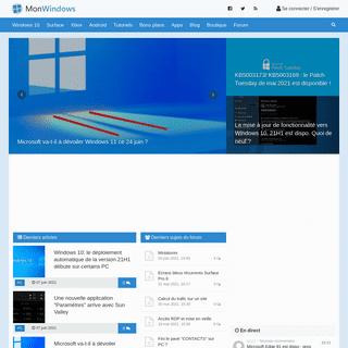Mon Windows - la communauté Windows 10, Surface, Xbox et Microsoft francophone