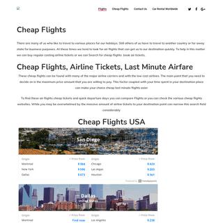 Flights- Cheap Airfare - Cheap Airlines & Flights Tickets