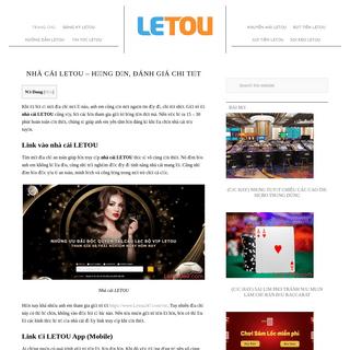 Nhà cái LETOU – hướng dẫn, đánh giá chi tiết