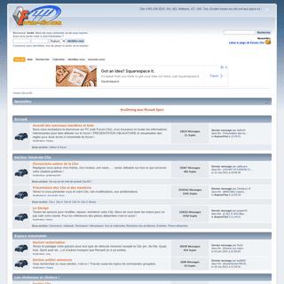 Forum Clio & RS - Accueil