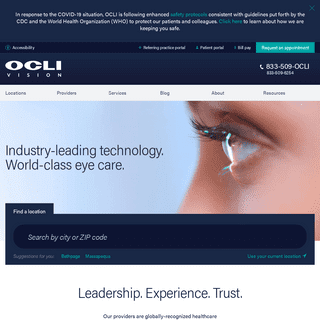 Welcome to OCLI Vision - Ophthalmology Specialists