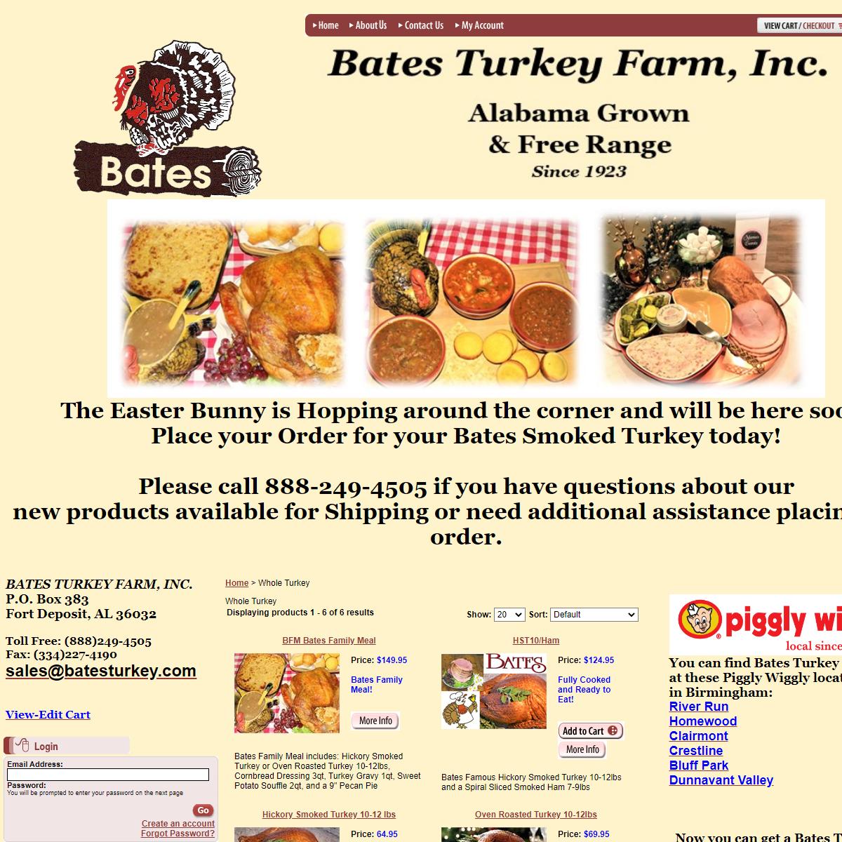 BATES TURKEY FARM, INC