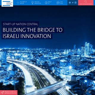 Building the Bridge to Israeli Innovation - Start-Up Nation Central