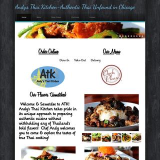 Andy`s Thai Kitchen-Authentic Thai Unfound in Chicago - Home