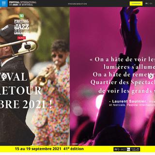 Festival international de Jazz de Montréal - Accueil