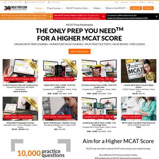 MCAT-Prep.com - Complete MCAT Preparation Home Study Course