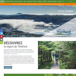 Développement économique, tourisme à Thetford Mines dans la MRC des Appalaches, aide financière
