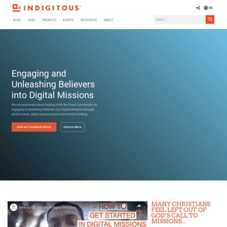 Indigitous - Engaging and Unleashing Believers into Digital Missions
