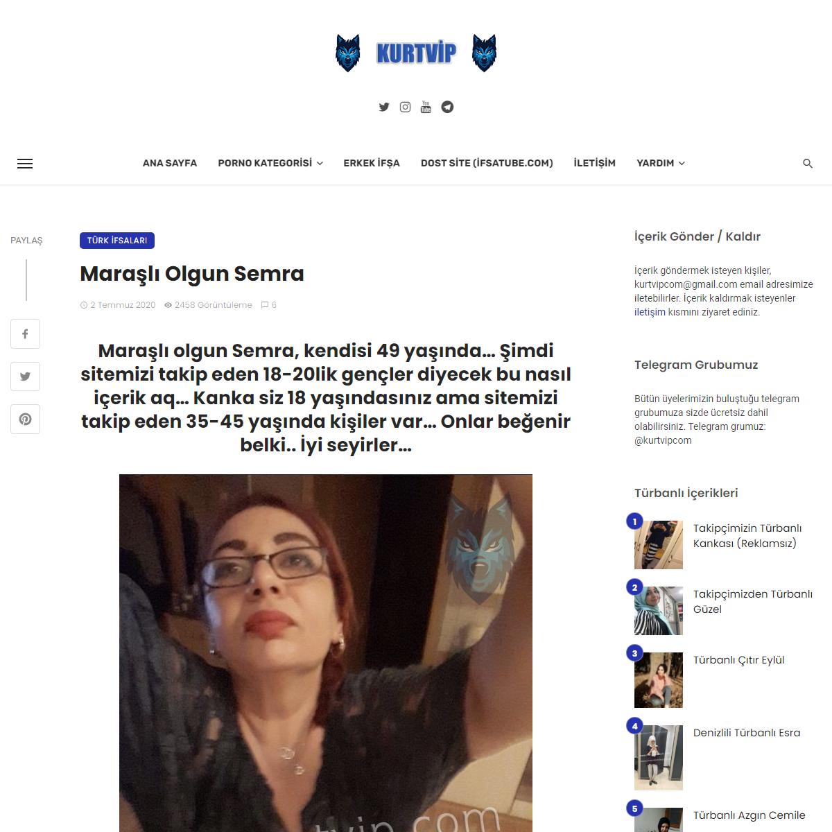 Maraşlı Olgun Semra - Kurtvip - Yabanci - Turk İfsa