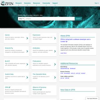 ZFIN The Zebrafish Information Network