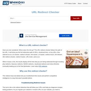 URL Redirect Checker - WhereGoes