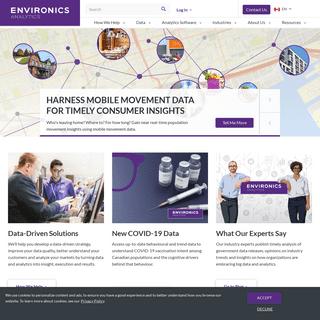 Environics Analytics - Canada`s Premier Data and Analytics Company
