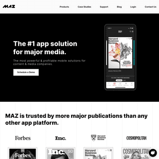 App Solution For Major Media & Publishers - Maz Systems