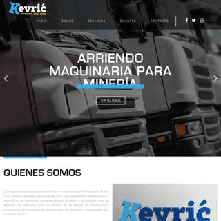 Kevric – Arriendo de Maquinarias para Minería