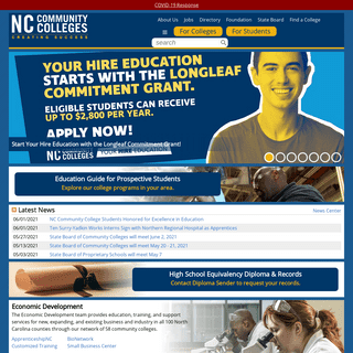NC Community Colleges - Creating Success