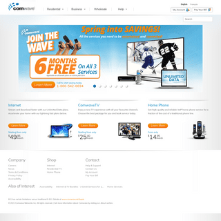 Home Internet, TV and Phone Service - Comwave Canada