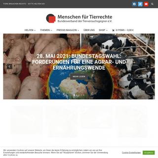 tierrechte.de – menschen für tierrechte – bundesverband der tierversuchsgegner e.v. – Eine weitere WordPress-Website