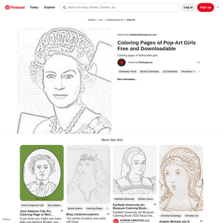 The Holiday Site- Coloring Pages of Pop-Art Girls Free and Downloadable - Pop art girl, Art girl, Pop art