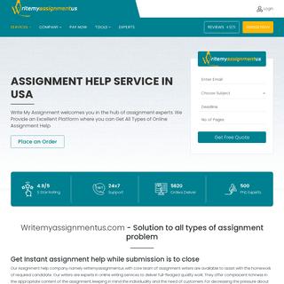 Assignment Help Online - Assignment Writing Help USA