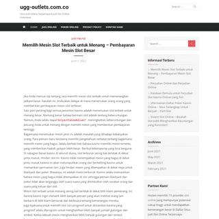 ugg-outlets.com.co - Situs Judi Online Terpercaya & Judi Slot Online Indonesia