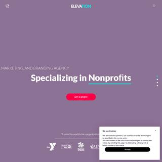 Nonprofit Website Design - ELEVATION