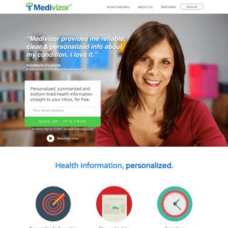 Medivizor - Health information, personalized.