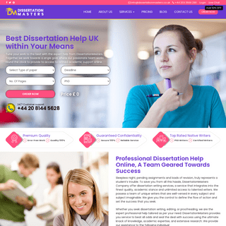 No.1 Dissertation Help UK @ 50- OFF By DissertationMasters