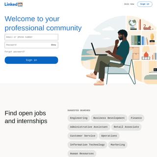 LinkedIn- Log In or Sign Up