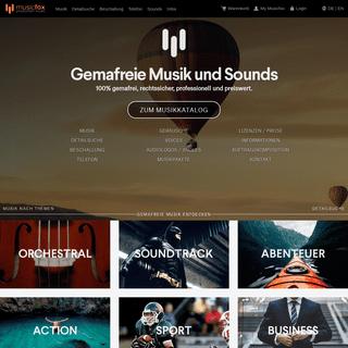 100- GEMA-freie Musik - Hochwertig & Rechtssicher - musicfox.com