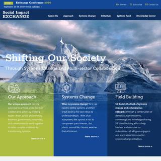 Social Impact Exchange - Home
