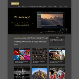 PictureCode home page- Photo Ninja