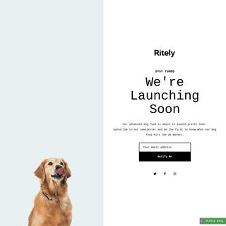 Ritely - Advanced Nutrition Dog Food