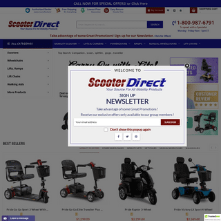 Power Scooters, Wheelchairs, and Lifts - Scooter Direct