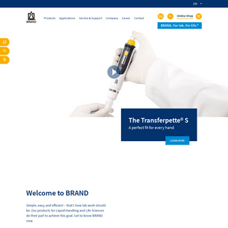 Laboratory equipment, application information, career - BRAND