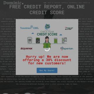 Free Credit Report, Online Credit Score