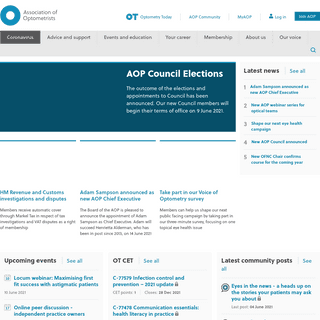 Association of Optometrists (AOP) - Homepage