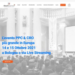 L`evento-corso PPC (Google Ads, Facebook Ads, Amazon) più importante in Italia