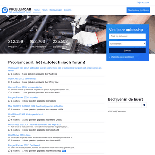 Problemcar.nl, al bijna 20 jaar hét autotechnisch forum! - Problemcar.nl