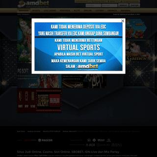 AMDBET- Situs Judi Online - IDN Poker - Slot Online 24 Jam