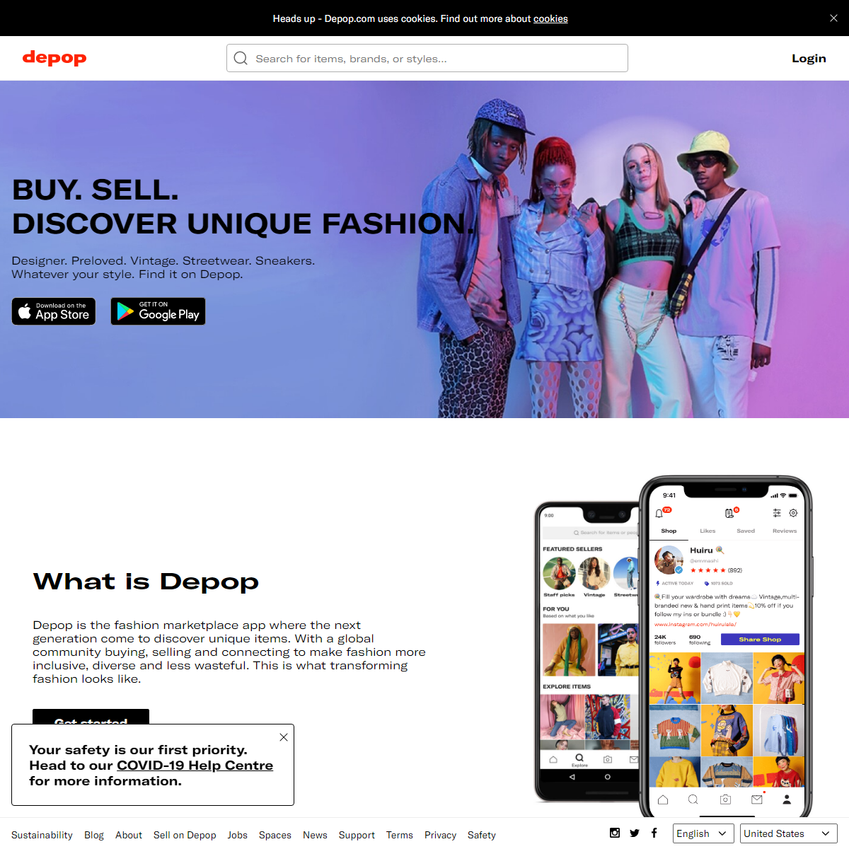 Depop - buy, sell, discover unique fashion