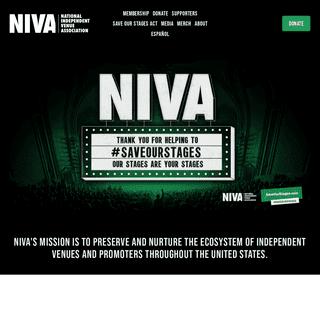 NIVA - National Independent Venue Association