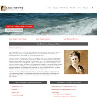 Kate Chopin- The Awakening, The Storm, stories, biography