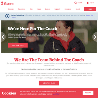 UK Coaching - We`re here for the COACH