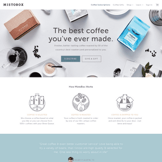 Coffee Subscriptions Personalized For You - MistoBox