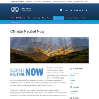 Climate Neutral Now - UNFCCC