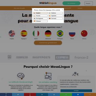 MosaLingua - Apprendre les langues efficacement (en ligne & mobile)