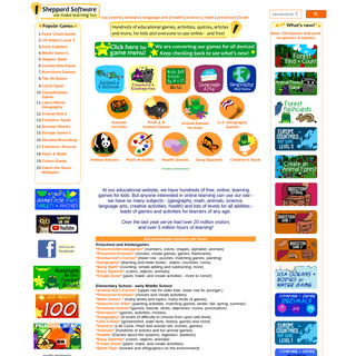 Sheppard Software- Fun free online learning games and activities for kids.
