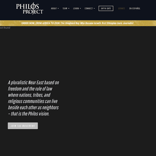 Philos Project - Christian Advocacy in the Near East - NonProfit