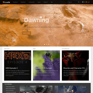 Houdini - 3D modeling, animation, VFX, look development, lighting and rendering - SideFX