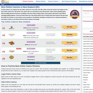 Best Online Casino NZ 2021- Get NZ$1500 to Play Casino Games